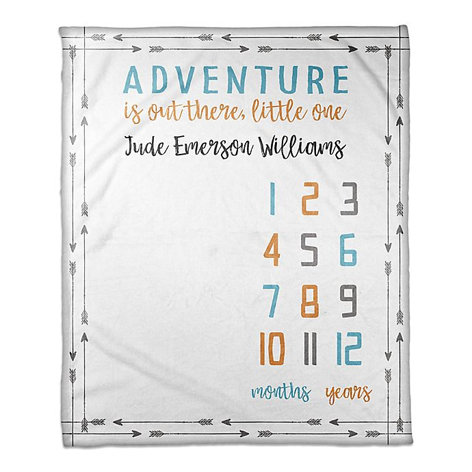 Alternate image 1 for Designs Direct Adventure Milestone Throw Blanket in White