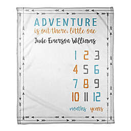 Designs Direct Adventure Milestone Throw Blanket in White