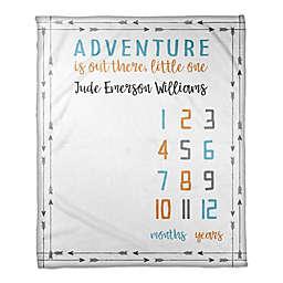 Designs Direct Adventure Milestone Throw Blanket in White