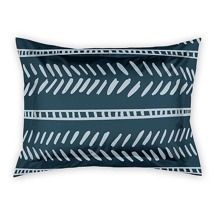 Alternate image 1 for Designs Direct Dash Standard Pillow Sham in Blue