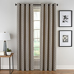 Boratta Geo Grommet Top Window Curtain Panel