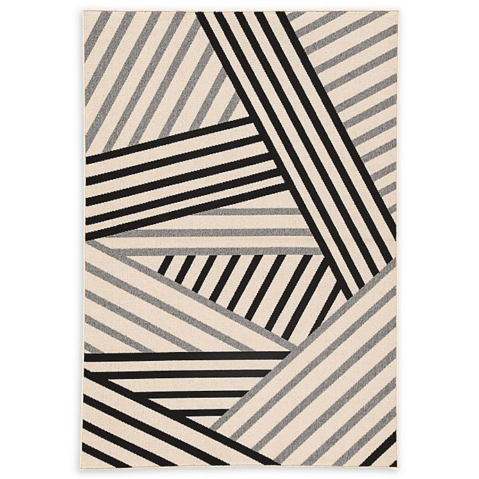 Alternate image 1 for Jaipur Living Begley Indoor/Outdoor 5'3 x 7'6 Area Rug in Black/Grey
