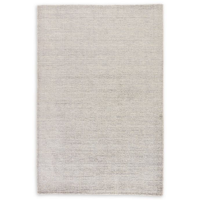 Alternate image 1 for Jaipur Landry Hand-Knotted 5' x 8' Area Rug in Light Grey