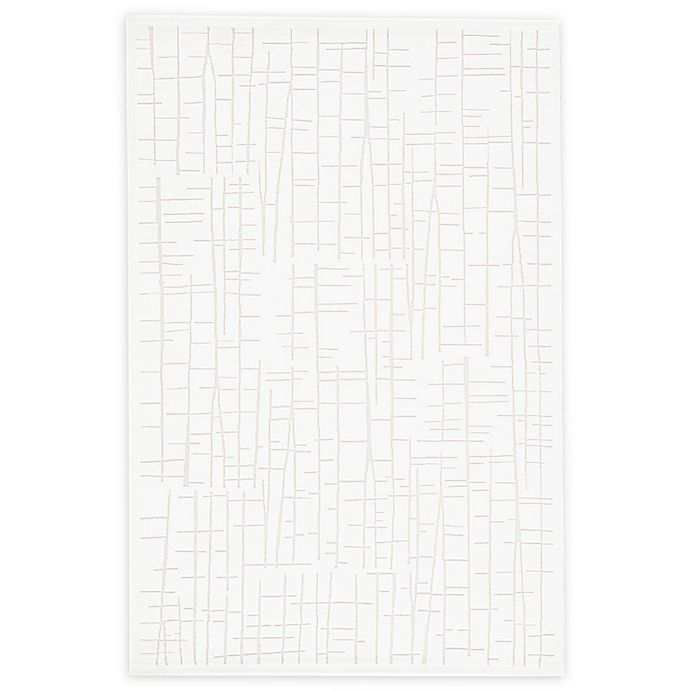 Alternate image 1 for Jaipur Palmer Abstract 7'6 x 9'6 Area Rug in White