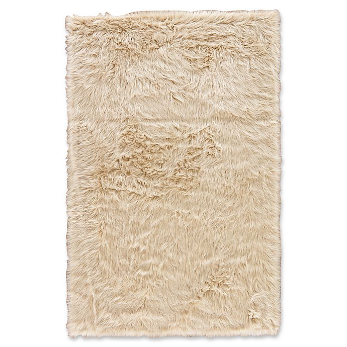 Alternate image 1 for Jaipur Heron Shag Rug in Cream