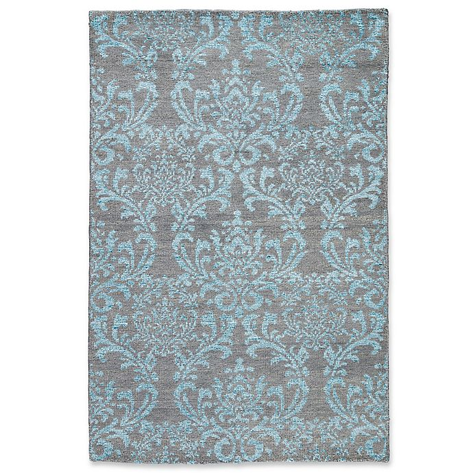 Alternate image 1 for Jaipur Hillier 5' x 8' Hand Knotted Area Rug in Grey/Turquoise