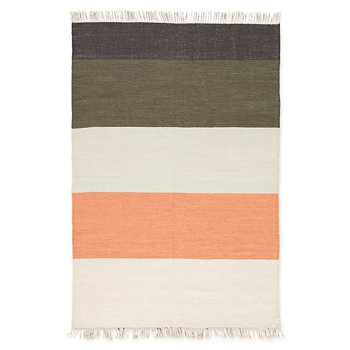 Alternate image 1 for Jaipur Swane 5' x 8' Indoor/Outdoor Area Rug in Coral/Green