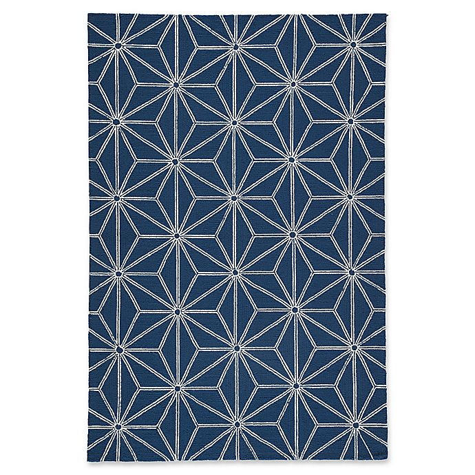 Alternate image 1 for Jaipur Haige 2' x 3' Indoor/Outdoor Accent Rug in Navy
