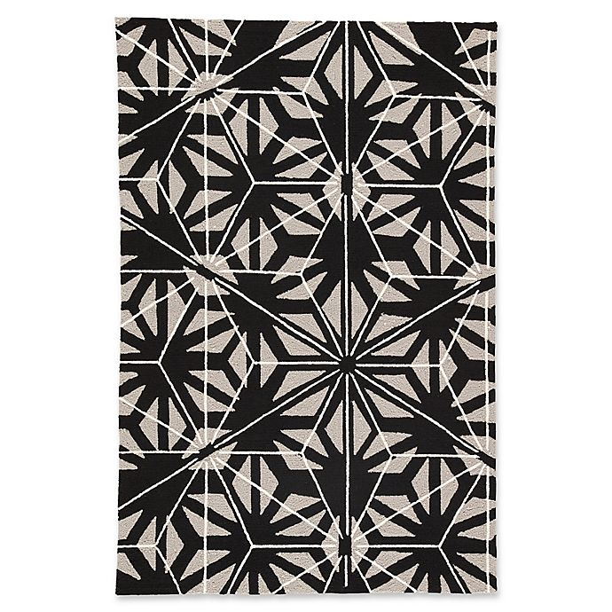 Alternate image 1 for Jaipur Haige 5' x 7'6 Indoor/Outdoor Area Rug in Black