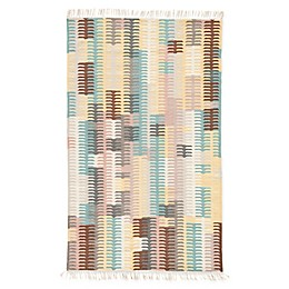 Jaipur Carver Indoor/Outdoor Rug in Turquoise/Yellow
