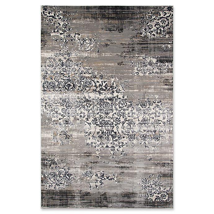 Alternate image 1 for Momenti Juliet Vintage Scroll 3'3 x 5' Runner in Grey