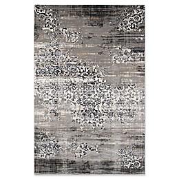 Momenti Juliet Vintage Scroll Rug in Grey