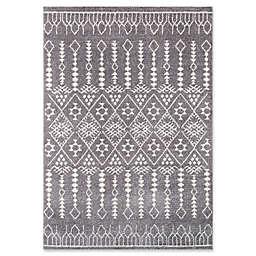 Momeni Lima Geometric 7'10 x 9'10 Area Rug in Grey