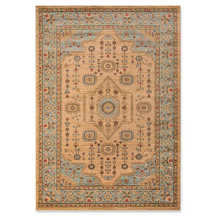 Alternate image 1 for Momeni Ghazni Floral 7'10 x 9'10 Area Rug in Beige