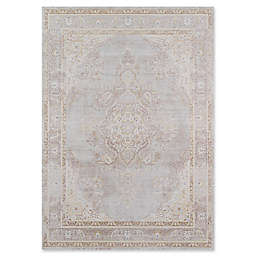 Momeni Isabella Botanical Medallion 2' x 3' Accent Rug in Grey