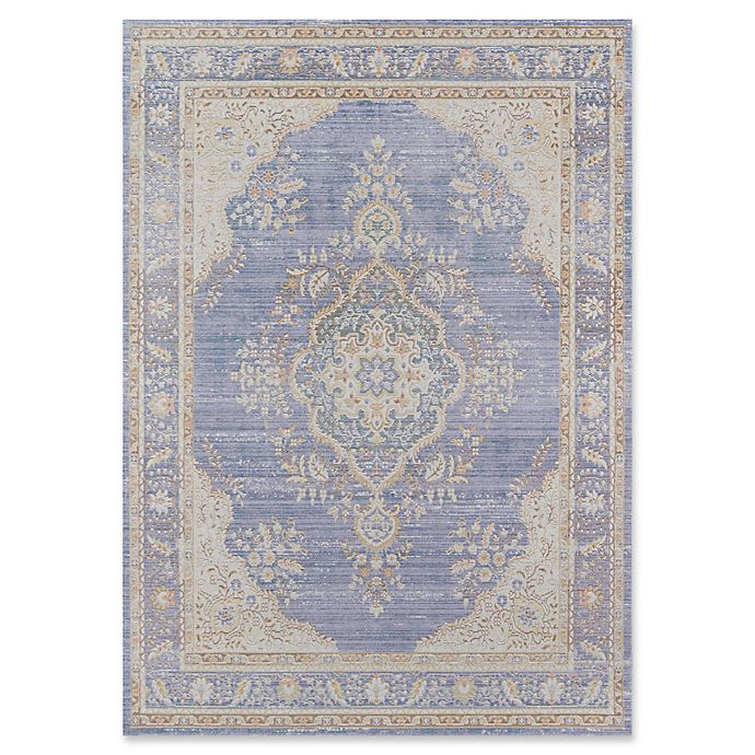 Alternate image 1 for Momeni Isabella Botanical Medallion 5'3 x 7'3 Area Rug in Periwinkle