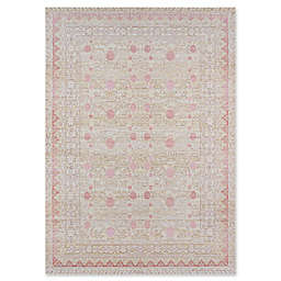 Momeni Isabella Floral 2' x 3' Accent Rug in Pink