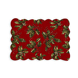 Reversible Mistletoe/Stripe Quilted Placemat