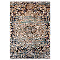 Momeni Amelia Floral 9'3 x 12'6 Area Rug in Navy