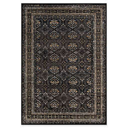 Momeni Encore Geometric Floral Rug in Charcoal