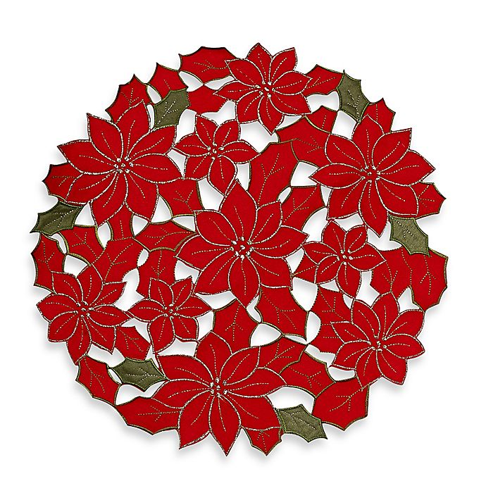 Alternate image 1 for Poinsettia Cluster Round Placemat