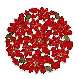 Poinsettia Cluster Round Placemat