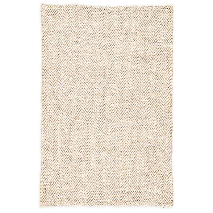 Alternate image 1 for Jaipur Haxel 8' x 10' Handmade Chevron Area Rug in Beige/White