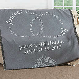 Forever & Ever Wedding Woven Throw
