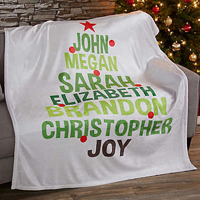 Christmas Family Tree Fleece Blanket