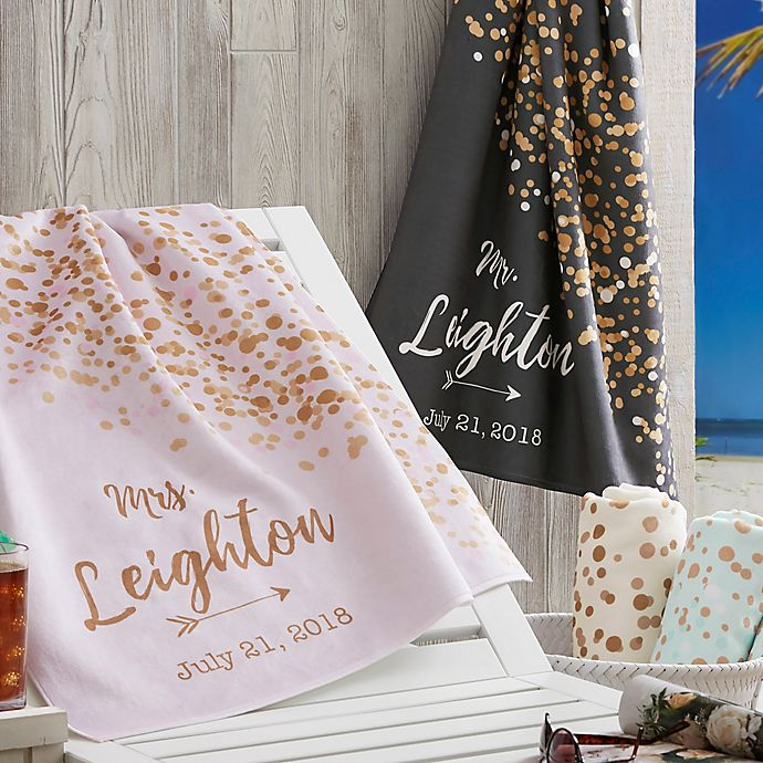 Alternate image 1 for Sparkling Love Beach Towel