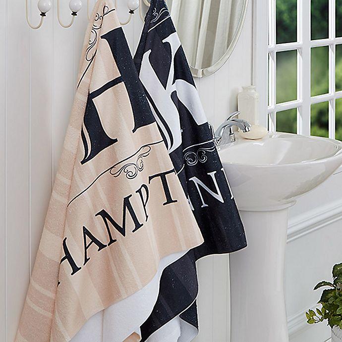 Alternate image 1 for Elegant Monogram Bath Towel