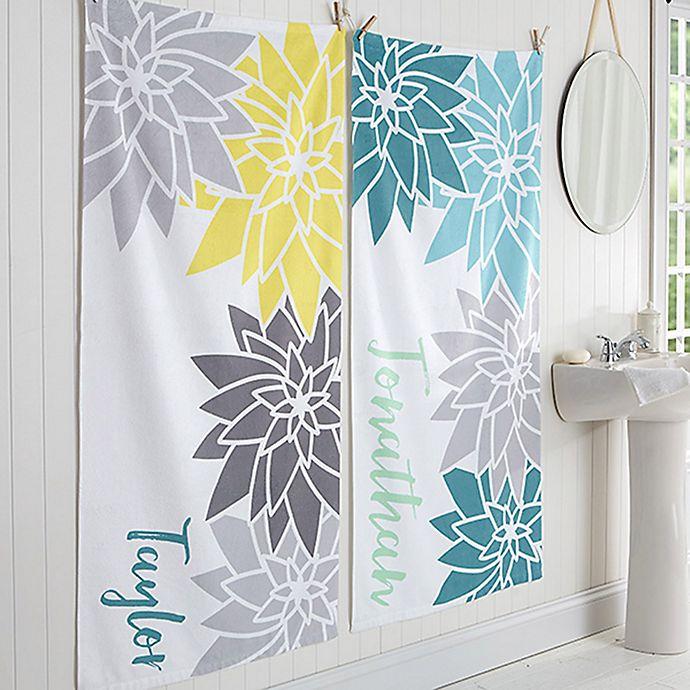 Alternate image 1 for Mod Floral Bath Towel
