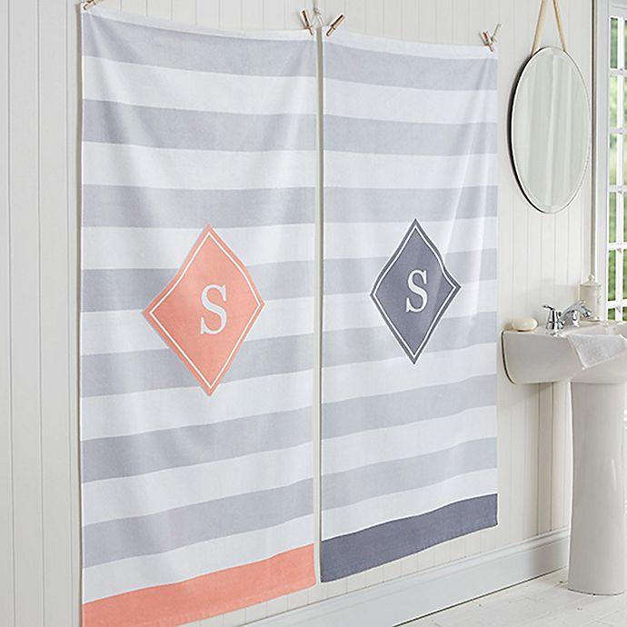 Alternate image 1 for Classic Initial Bath Towel