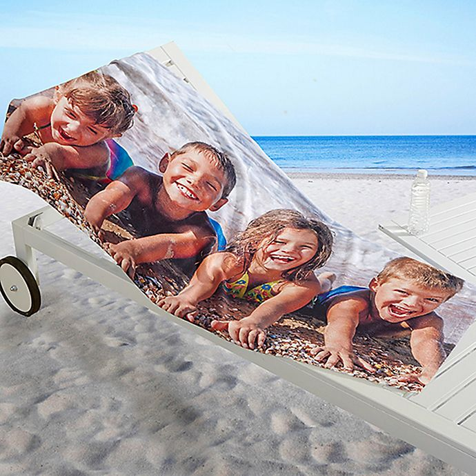Alternate image 1 for 1-Photo Collage Beach Towel