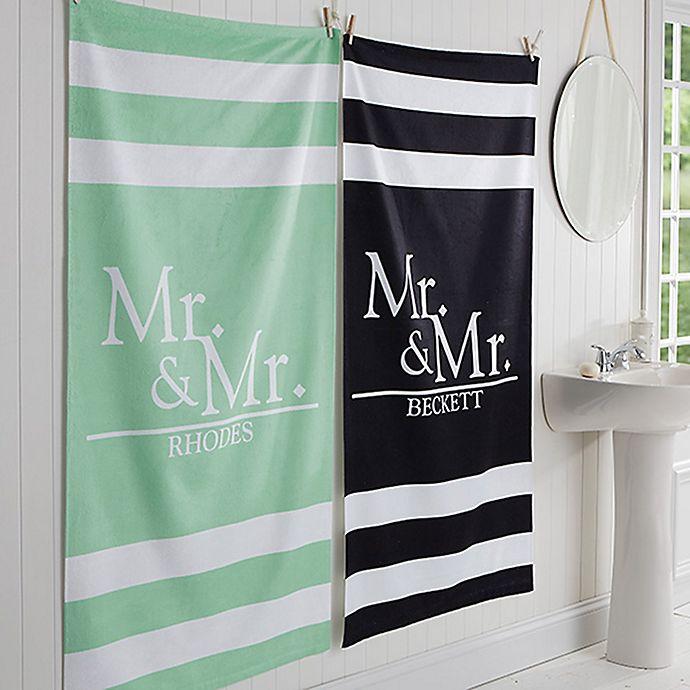 Alternate image 1 for Wedded Pair Bath Towel