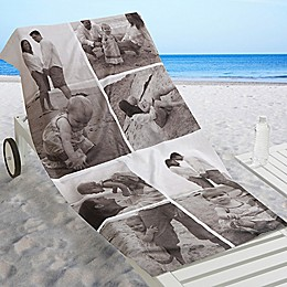 6-Photo Collage Beach Towel