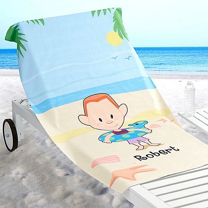 Family Beach Blanket: Summer Family Characters Beach Towel