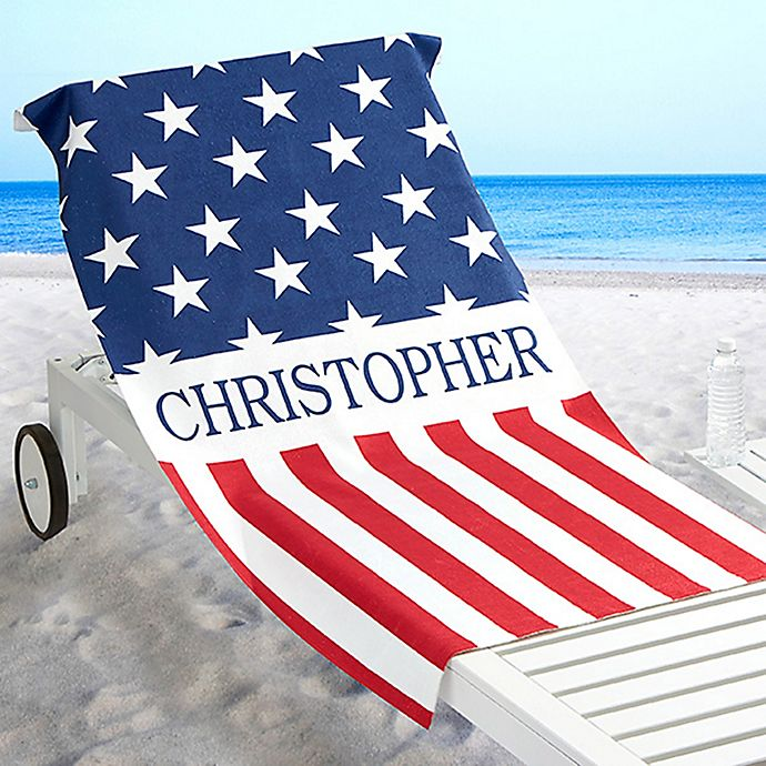 Alternate image 1 for Red, White & Blue Beach Towel