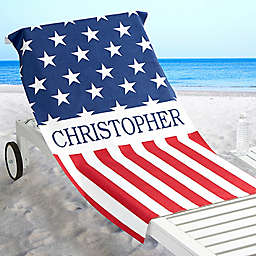 Red, White & Blue Beach Towel