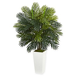 Nearly Natural 45-Inch Areca Palm Artificial Plant in White Base