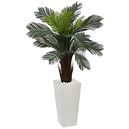 Nearly Natural Artifical Tabletop Cycas Plant in Rectangular Container