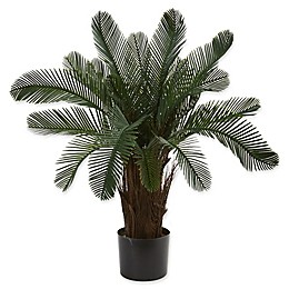 Nearly Natural 28-Inch Artifical Cycas Tree in Black Pot
