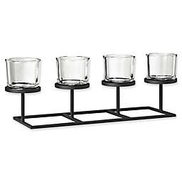 Blomus 4-Tealight Holder with Rectangle Tray Base