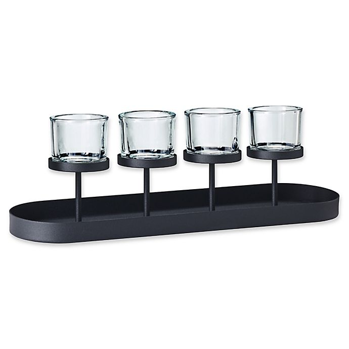 Alternate image 1 for Blomus 4-Tealight Holder with Oval Tray Base