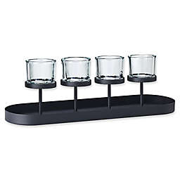 Blomus 4-Tealight Holder with Oval Tray Base