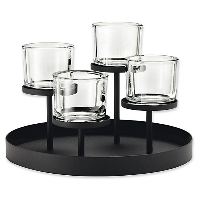 Alternate image 1 for Blomus 4-Tealight Holder with Round Tray Base