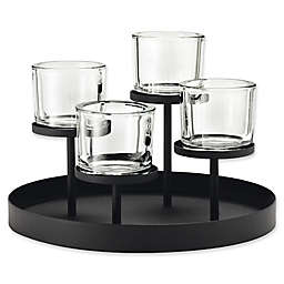 Blomus 4-Tealight Holder with Round Tray Base