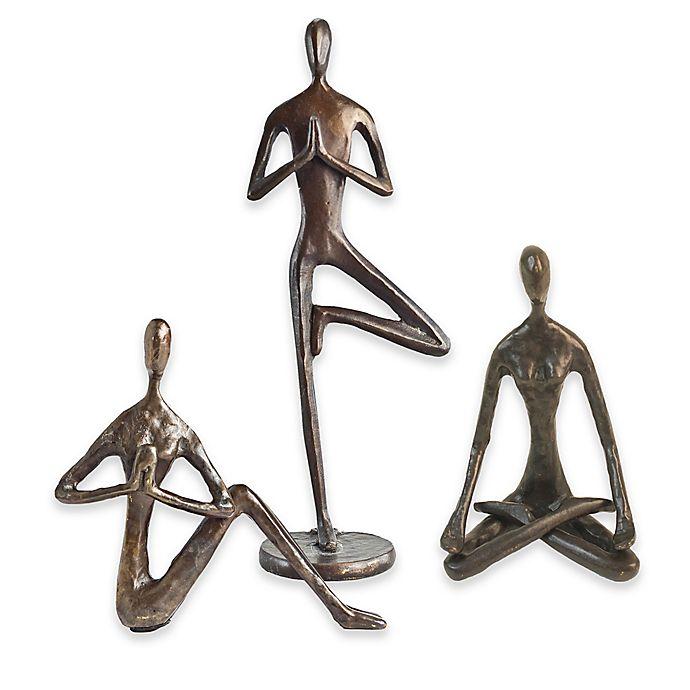 Alternate image 1 for Danya B. Bronze Yoga Sculptures