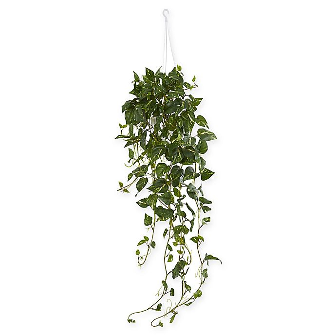Alternate image 1 for Nearly Natural 40-Inch Pothos Artificial Plant in White Basket