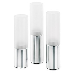 Blomus Faro 3-Piece Tealight Candle Holder Set in Matte Stainless Steel